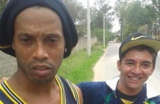This tactless fan asked Ronaldinho for a selfie moments after he crashed his car