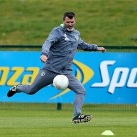 Roy Keane nails a crossbar challenge, summons football back to his feet