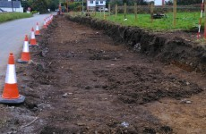 Leitrim County Council finds 'archaeological remains' when digging up road