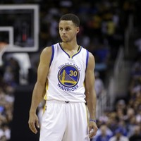 Steph Curry is so good at basketball he can high-five a team-mate in the middle of a shot