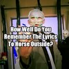 How Well Do You Remember The Lyrics To Horse Outside?