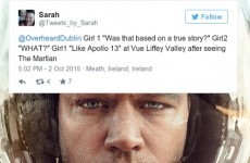 A distressing number of people think The Martian is based on a true story