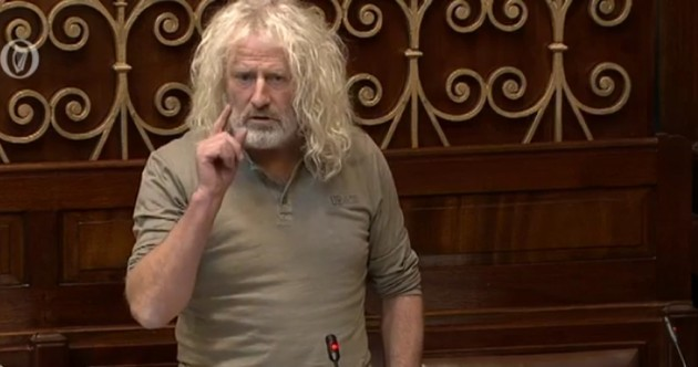 """WATCH: Mick Wallace accuses Enda Kenny of Nama """"cover-up"""""""