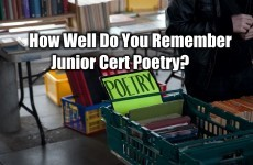 How Well Do You Remember Junior Cert Poetry?