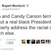 Rupert Murdoch under fire over tweet about 'real black President'
