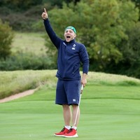 The best pics as the Irish rugby team test themselves on a Ryder Cup golf course