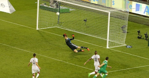 Here's the goal that put Ireland 1-0 up against Germany