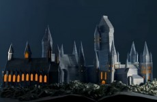 Somebody has used the pages of Harry Potter to build a perfect Hogwarts