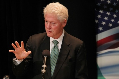 Clinton during a visit to Ireland last year