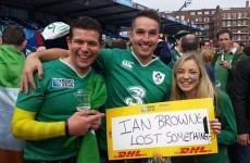 These Irish fans lost their tickets to the France match but a couple saved the day