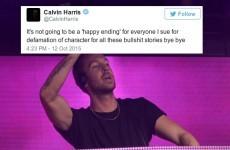 Calvin Harris is threatening to sue 'everyone' on Twitter over 'bullsh** stories'