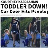 Kourtney Kardashian's daughter got whacked in the face with a car door, on camera... it's The Dredge