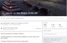 The 'Movie on the Beach' planned for Dublin tonight is definitely not real