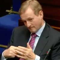 What was Enda doing with his hands during Mary Lou's Budget speech?