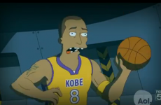 WATCH: Kobe get punched in the face in a brand new Simpsons