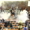 Politicians in Kosovo have let-off tear gas canisters in parliament