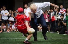 Watch Boris Johnson slam a 10-year-old schoolboy to the ground during a rugby match