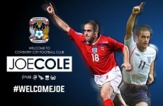 Coventry have just signed 'Actual Joe Cole. Seriously, Joe Cole. The Real Joe Cole'