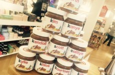 Brown Thomas is now selling personalised Nutella jars