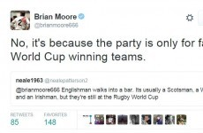 That Irish rugby joke doing the rounds was too much for one English player
