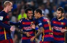 Neymar gave his best Robert Lewandowski impression for Barca this evening