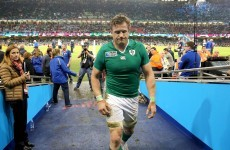 'I'd just like to thank everyone very much' - Emotional Heaslip praises Irish fans