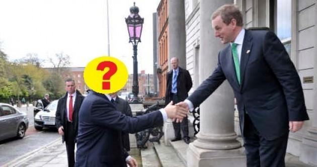 Quiz: Whose hand is Enda Kenny shaking?