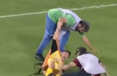 A lesson in how not to carry an injured player off the pitch on a stretcher