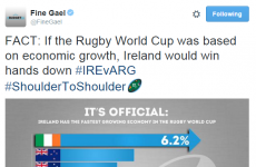 Fine Gael got an awful lot of grief for this tweet before the match yesterday