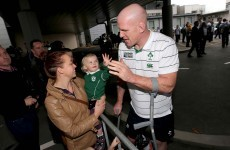 In pics: Irish team return to low-key homecoming