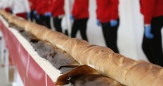 A lotta eatin' - this is officially the longest baguette in the world