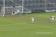Now there's video footage of 42-year-old Mick Lawlor scoring two goals in two minutes