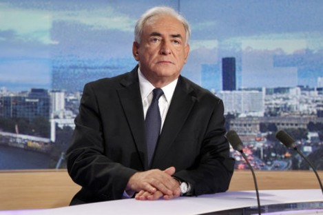 Dominique Strauss-Kahn waiting for a television interview on 18 September.