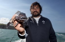 Gone fishin': Ireland's rugby stars reel it all in on day off