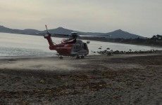 Coast guard rescues man having a possible stroke