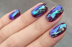 This new 'shattered glass' nail art trend looks seriously cool