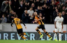 This superb volley from Ireland's David Meyler helped lift Hull into the play-off spots