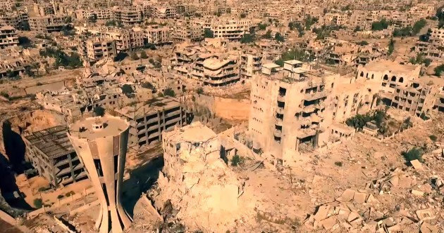 WATCH: First drone video shows devastation of war in Syria