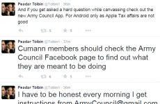Sinn Féin TD defends sarcastic tweets about 'getting instructions from Army Council'