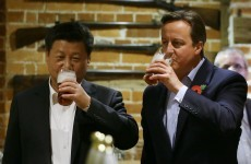 David Cameron and the Chinese president were skulling pints last night