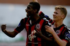 Bohemians keep slim European hopes alive as Akinade double sinks Derry