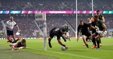Did the officials miss a forward pass for New Zealand's first try?