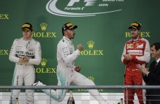 Lewis Hamilton is world champion again, and Nico Rosberg doesn't look too pleased