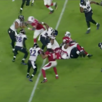 Chris Johnson turned this play which seemed dead into a 62-yard run