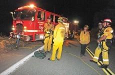 Man survives car plunge off cliff and lives on leaves til rescue