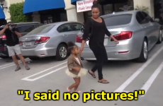 Everyone's talking about this video of North West trying to dodge paparazzi