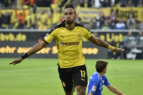 Aubameyang signed for Dortmund from St Etienne in 2013.