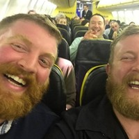 Two men sat next to each other on a flight to Ireland... and realised they were doppelgangers