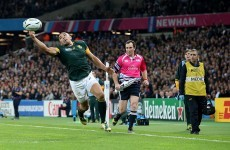The handling skills for the Springboks' second try were worthy of a much bigger game