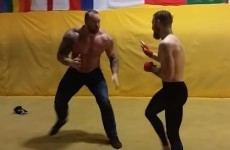 Here's the footage of Conor McGregor's scrap with The Mountain from Game of Thrones